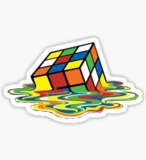 Melting Rubix Sticker