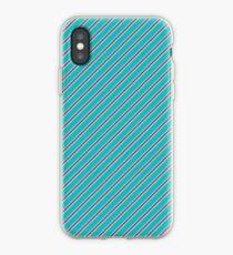Diagonal Blue and Purple Stripes iPhone Case