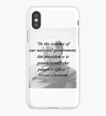 Presidency - Grover Cleveland iPhone Case/Skin