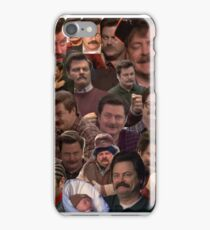RON SWANSON'S FACES iPhone Case/Skin
