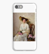 John Henry Frederick Bacon - Young Woman with Roses 1903 iPhone Case/Skin
