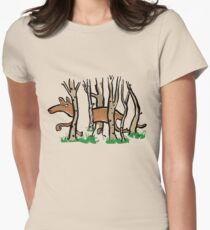 the elusive thylacine Womens Fitted T-Shirt