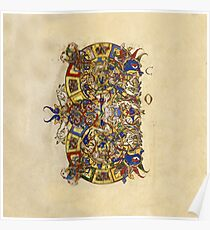 Inhabited Initial C of a Breviary from Montecassino (1153 AD) Poster