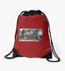 Caged prisoners Drawstring Bag