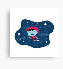 A space to sing Canvas Print