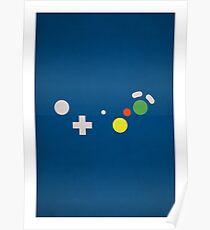 Gamecube - Nintendo Controller Minimalist Series Poster