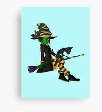 The Green Witch  Canvas Print
