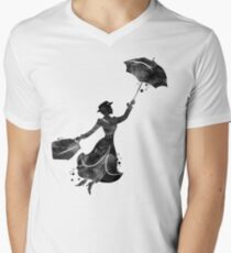 Mary Poppins Men's V-Neck T-Shirt