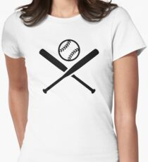 Softball bats Womens Fitted T-Shirt
