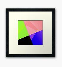 Trendy Bright Chic Color Blocks Pattern Framed Print