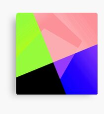 Trendy Bright Chic Color Blocks Pattern Canvas Print