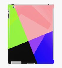 Trendy Bright Chic Color Blocks Pattern iPad Case/Skin