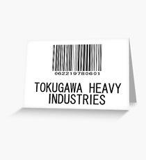 Tokugawa Heavy Industries (Black) (Metal Gear) Greeting Card