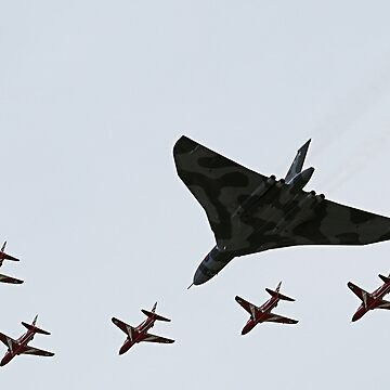 The Vulcan and Red Arrows by MattyTM