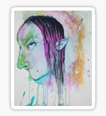 Dark Elf Watercolor Sticker