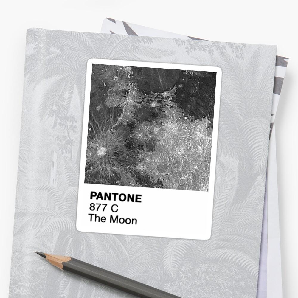 Pantone - Mond Sticker