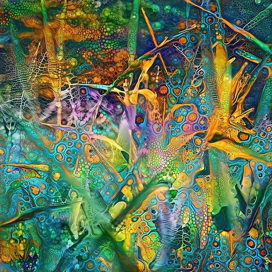 Floral abstract digital lobsterish