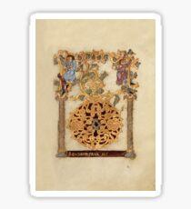 Decorated Initial D - D[eu]s qui Hodierna Die (1000 - 1025 AD) Sticker
