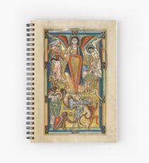 Saint Michael Battling the Dragon (1170 AD) Spiral Notebook