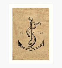 Festina Lente - Aldus Manutius Printer's Mark Art Print