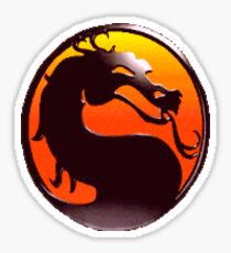 MORTAL KOMBAT PIXEL LOGO Sticker