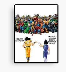 DBZ | Super heroes  Canvas Print