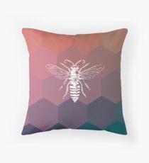 Geometry Bee Throw Pillow