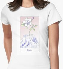The Death Card from the BirdQueen Tarot Women's Fitted T-Shirt