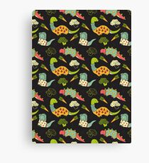 Eat Your Veggies in Brights Canvas Print