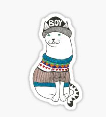 Boycat Sticker