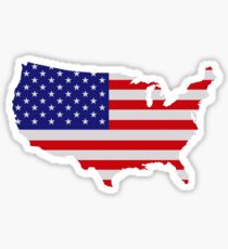 American Flag USA Map Sticker