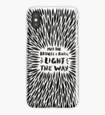 Bridges I Burn – Black Burst iPhone Case