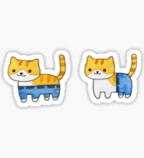 if a cat wore pants Sticker