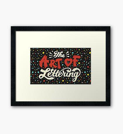 The Art of Lettering Framed Print