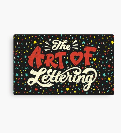 The Art of Lettering Canvas Print
