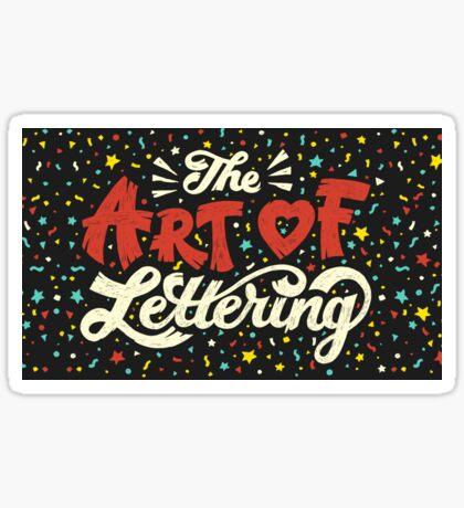 The Art of Lettering Sticker