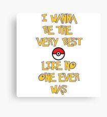 Pokemon Theme Canvas Print