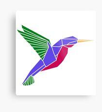 Origami geometric hummingbird Metal Print