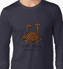 Earpick Fungus (with smiley face) Long Sleeve T-Shirt