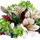 Asiatic Lilies, Hydrangea and Berries by Susan Savad