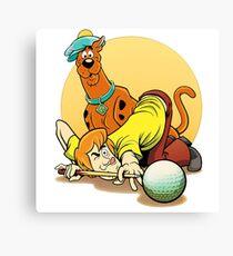 Scooby Doo and Shaggy Billiard Canvas Print