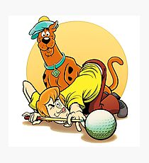 Scooby Doo and Shaggy Billiard Photographic Print