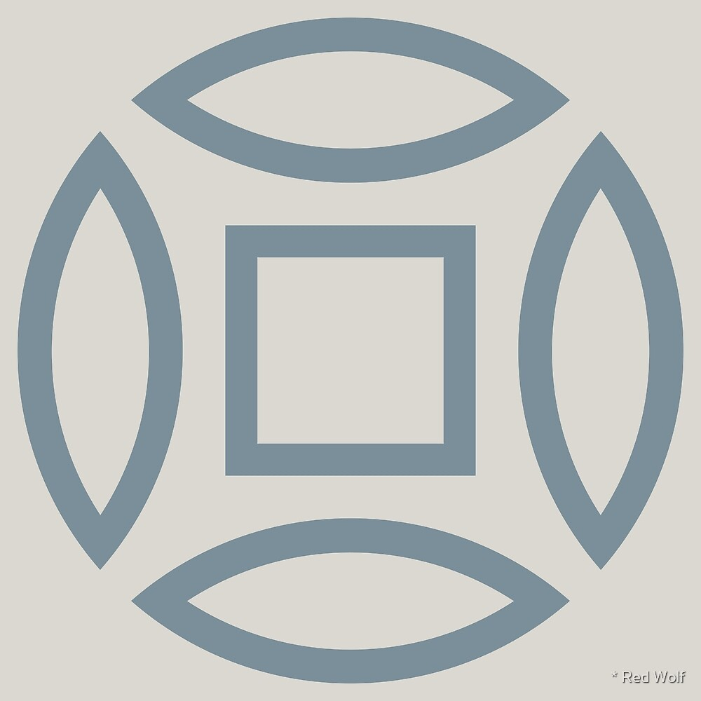 Geometric Pattern: Intersect Outline: Bluestone by * Red Wolf