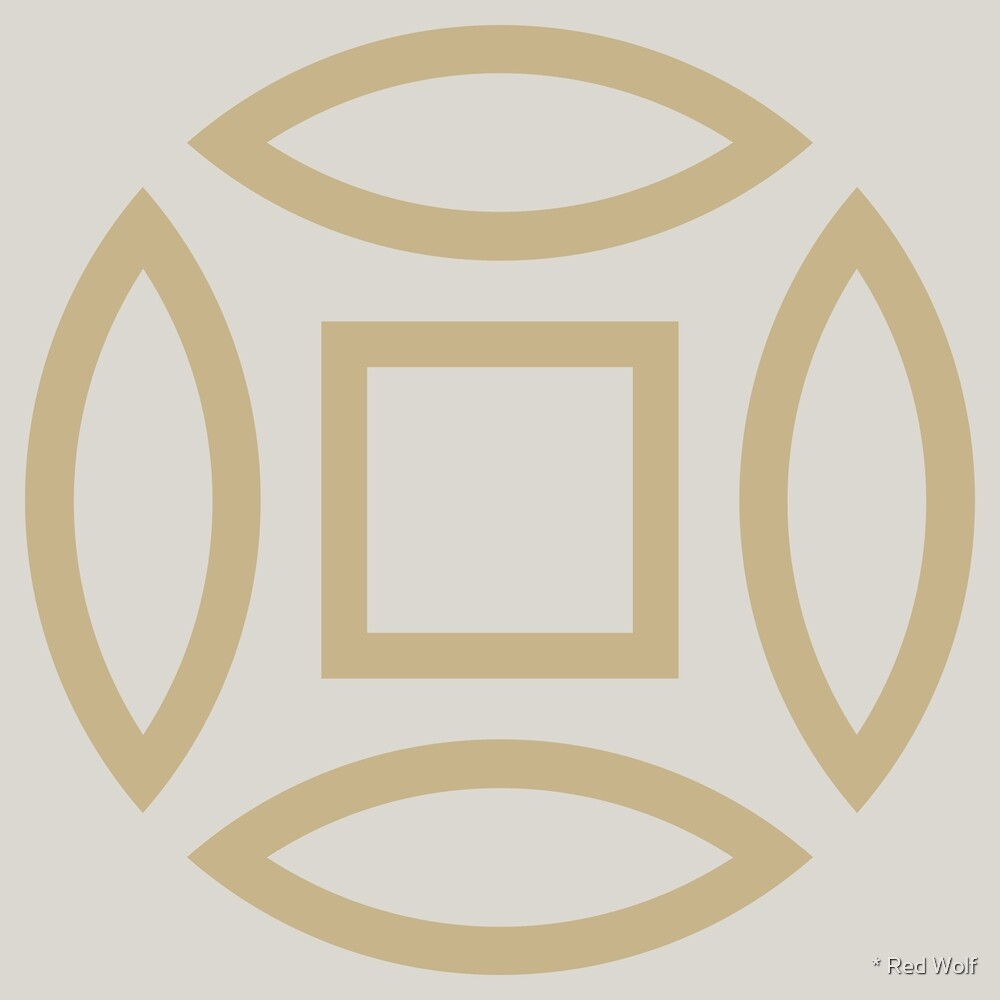 Geometric Pattern: Intersect Outline: Sandstone by * Red Wolf