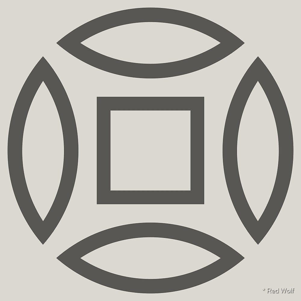 Geometric Pattern: Intersect Outline: Slate by * Red Wolf