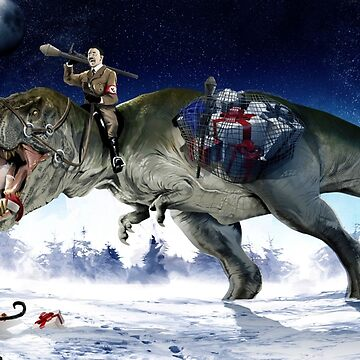 Hitler Riding a T. Rex in the Snow by webso