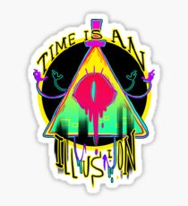 TIME IS AN ILLUSION Sticker