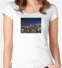 Empire State Building in New York City Women's Fitted Scoop T-Shirt