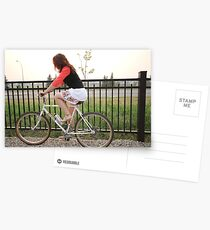 A Girl on her bicycle  Postcards