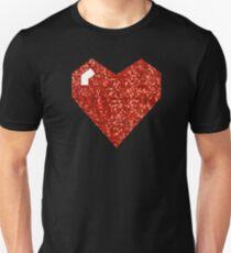 pixel valentines day heart Unisex T-Shirt
